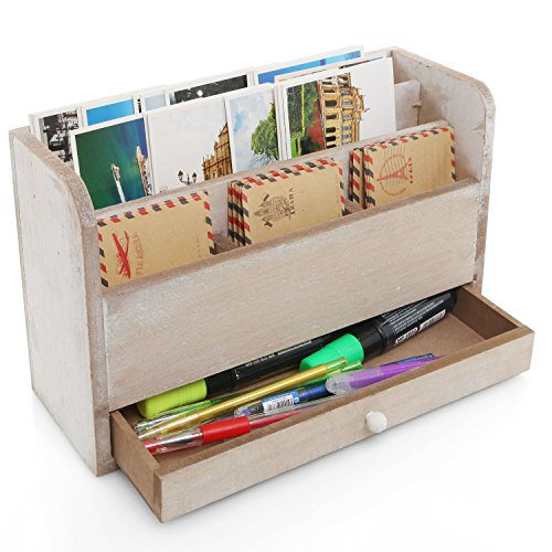 Unfinished Compartment Desktop Document Organizer