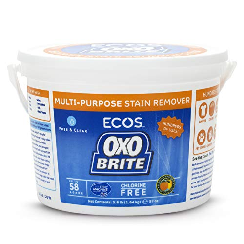 Earth Friendly Products Oxo-Brite, Color-Safe Whitener & Brightener, 57.6-Ounces (3.6 LB.) (Pack of 2)