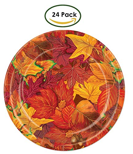 Fall Leaf Paper Plates (24 Pack)