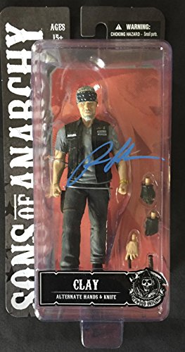 RON PERLMAN SIGNED SONS OF ANARCHY MOTORCYCLE CLUB FIGURE SAMCRO PROOF COA K2 (Sons Of Anarchy Figurines)
