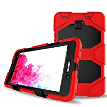Galaxy Tab A 7.0 Case,Shockproof dust-proof hard armor Heavy Duty design with Kickstand Protective Case For Samsung Galaxy Tab A 7.0 Inch Tablet 2016 Release [SM-T280 / SM-T285] (Red)