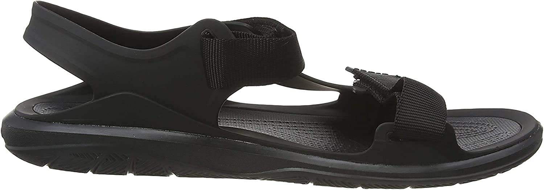 Negro Crocs Swiftwater Molded Expedition Sandal Black//Black 060 Sandalias de Punta Descubierta para Hombre 45//46 EU