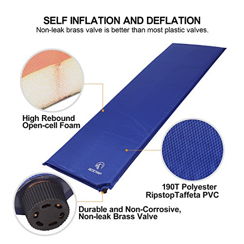 Redcamp Self Inflating Air Mattress For Camping Sleep On