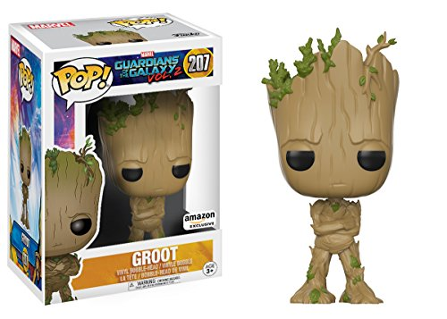 Funko Pop! Movies: Guardians of The Galaxy Vol. 2 – Adolescent Groot Amazon Exclusive Action Figure