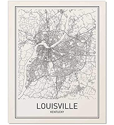 Louisville Poster, Map of Louisville, Louisville Map, City Map Posters, Modern Map Art, City Prints, Kentucky Art, Minimal Print, KY Poster, City Poster, City Map Wall Art, minimalist posters, 8x10