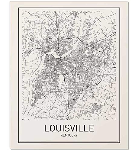 Kentucky City Map - Louisville Poster, Map of Louisville, Louisville Map, City Map Poster, Modern Map Art, Kentucky Art, Minimal Print, KY Poster, City Poster, City Map Wall Art, Minimalist Poster, 8x10, 11x14