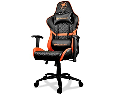 Cougar Armor One Gaming Chair with Reclining and Height Adjustment Black and Orange