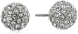 Rebecca Minkoff Crystal Ball Rhodium/Crystal Stud Ball Earrings
