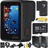 go pro extra mounts - GoPro HERO7 Black + Memory Card + Extra Battery + Cleaning Kit Combo
