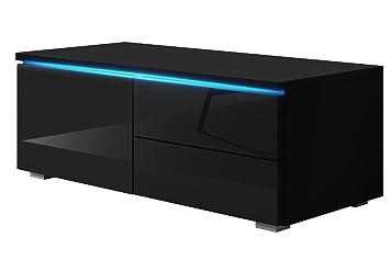 Tv schrank schwarz  TV Schrank Lowboard Sideboard Tisch Möbel Board Luv Single mit LED ...
