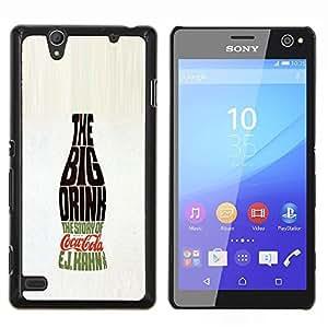 YiPhone /// Prima de resorte delgada de la cubierta del caso de Shell Armor - Botella Bebida grande Soda Pop Caligrafía - Sony Xperia C4
