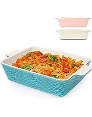 Gryta stor keramisk – för lasagne, Tiramisu & gryta – extra hög kant – kantig – blå