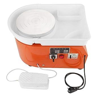 350 Watt Keramikradmaschine für Kinder, Elektrische Töpferscheibe Maschine Keramik Werfen Arbeit Lehm Formwerkzeug 220 V EU-S