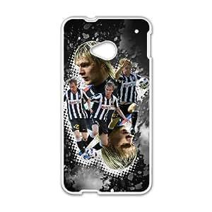 Juventus theme pattern design For HTC ONE M7 Phone Case