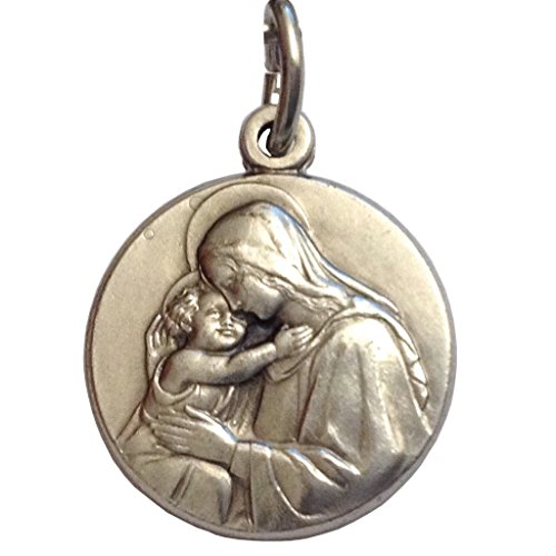 Madonna with Child Silver Medal - The Patron Saints Medals - Made in -