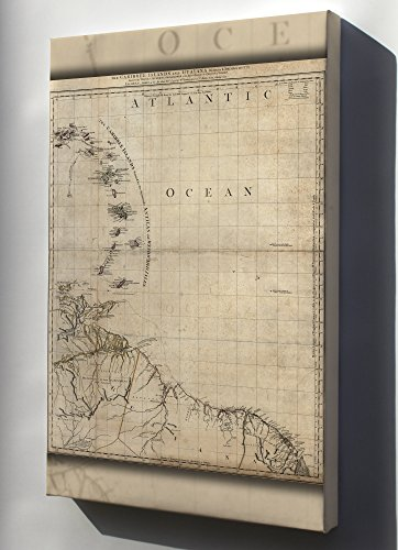 canvas-24x36-map-of-caribee-islands-and-guyana-1777