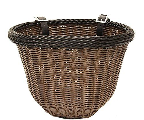 Colorbasket 01396 Adult Front Handlebar Bike Basket, Brown with Black Trim