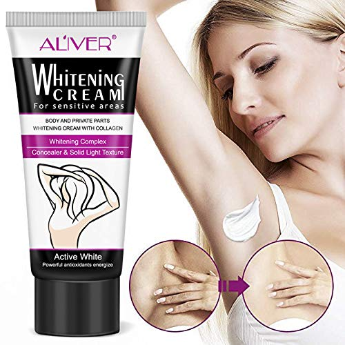 Underarm Whitening Cream, Natural Lightening & Brightening Deodorant Cream Armpit Whitening Body Creams Underarm Repair Between Legs Knees Private Part 60ml (Cream To Remove Hair From Private Parts)