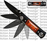 Tiger 7″ Assisted Opening Folding Pocket Knife with Pakkawood Handle For Sale
