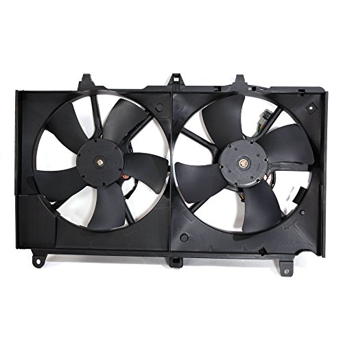 Dual Radiator A/C Condenser Cooling Fan Motor Assembly for 2003-2006 Nissan 350Z & 2003-2007 Infiniti G35