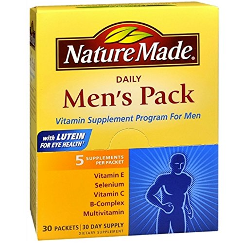 Nature Made Daily Men's Pack Vitamin Supplement Program 30 Each