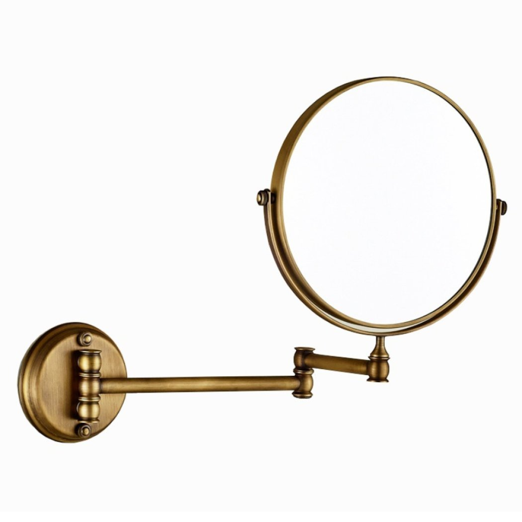AGAOLIGUO Hotel Bathroom Antique Bronze Vanity Mirror 360 Degree Rotating Double Sided makeup mirror 3x Magnification Chrome plating process,bronze_8inch