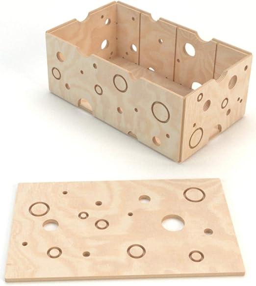 Plygear - Caja de Madera con Tapa para niños, 50 x 30 x 21 cm: Amazon.es: Juguetes y juegos
