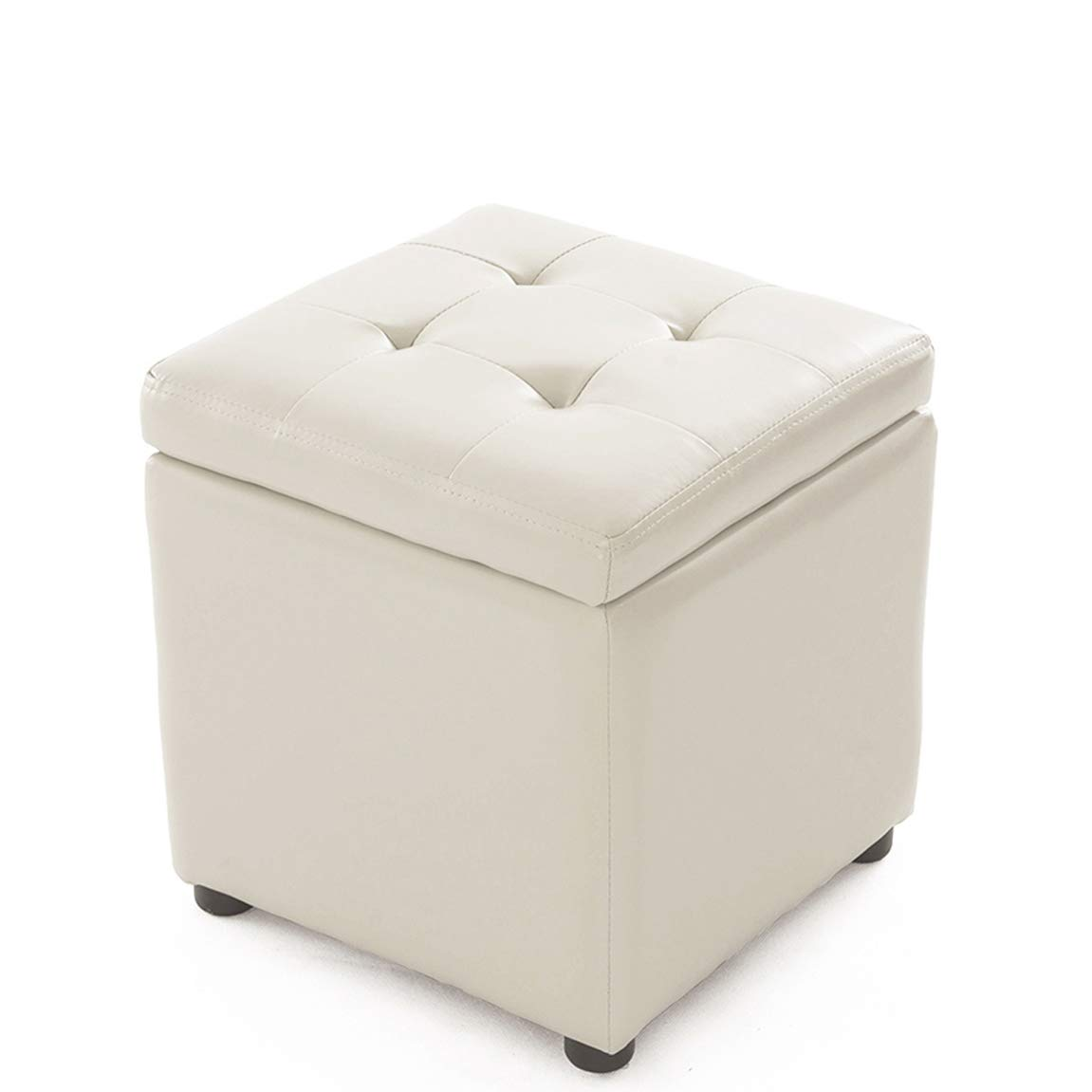 L 404040 cm HLQW Receiving Stools, Changing shoes, Stools, Halls, Sofas, Stools, Storage Stools, Low Stools, Footstools, Wearing shoes, Stools, Small Stools, White (Size   S 34  34  36 cm)