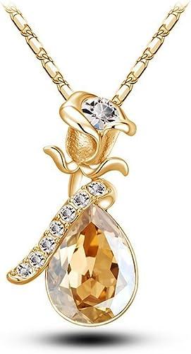 Celebrity Elements Collier avec pendentif goutte d'eau en cristal  Swarovski, idée cadeau pour la Saint-Valentin