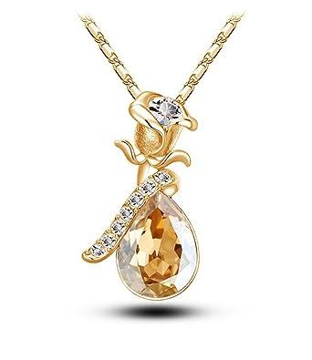 Celebrity Jewellery Champagne Autrichien Cristal Goutte D Eau Baisse