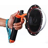 TELESIN 6 Underwater T03 Dome Port with Pistol Trigger Gadget for the Gopro Hero3/3+/4---Orange