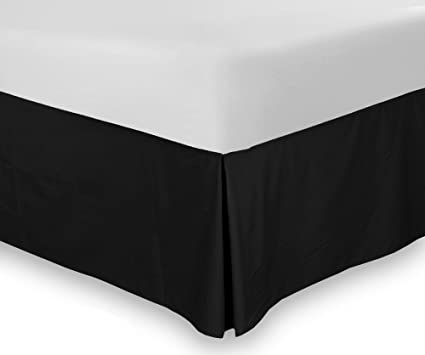 Amazon Com New Bedskirt King Size 10 Drop Black 100 Cotton In