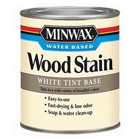 Minwax 618064444 Water-Based Wood Stain, quart, White Oak , Tint Base (Pre Stain Conditioner)