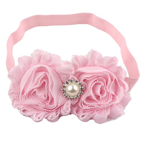Miugle Baby Girls Headbands with Bows (pink)