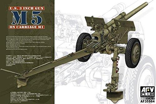 (AFV Club 35S64–Model Kit 3INM5on carriage M1)