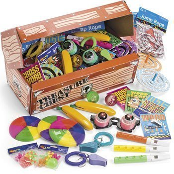 Fun Express Deluxe Treasure Chest Toy Assortment (50 Piece) - Toy Treasure Box