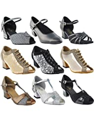 Gold Pigeon Shoes 50 Shades Of Thick Cuban Heel~ Dance Dress Shoes Collection: Women Ballroom, Practice, Teaching...