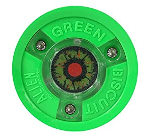 Green Biscuit ALIEN LED leucht Trainingspuck f. Eishockey, Hockey Puck Asphalt