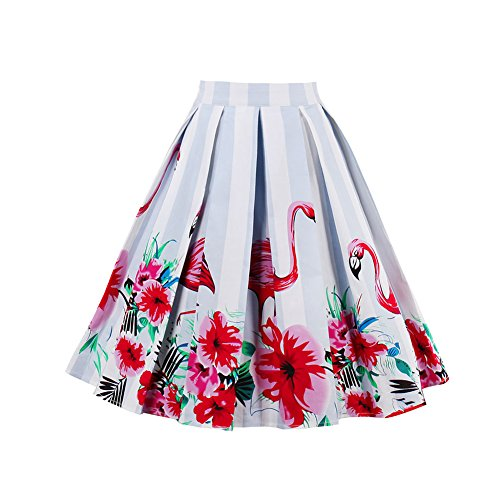 Used, Women's Vintage Full Circle 1950's Floral A-line Skirt for sale  Delivered anywhere in USA