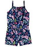 Osh Kosh Girls' Kids Sleeveless Romper, Navy Floral, 6-6X
