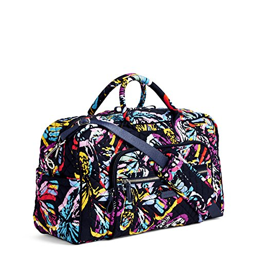 Vera Bradley Iconic Compact Weekender Travel Bag, Signature Cotton, Butterfly Flutter by Vera Bradley (Image #3)