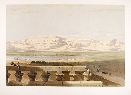 Libyan Chain of Mountains from the Temple of Luxor