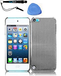 IMAGITOUCH(TM) 3-Item Combo Apple Ipod Touch 5 Metal Cover - Silver (Stylus pen, Pry Tool, Phone Cover)