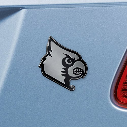 FANMATS NCAA University of Louisville Cardinals Chrome Team Emblem (Car Cardinals Louisville)