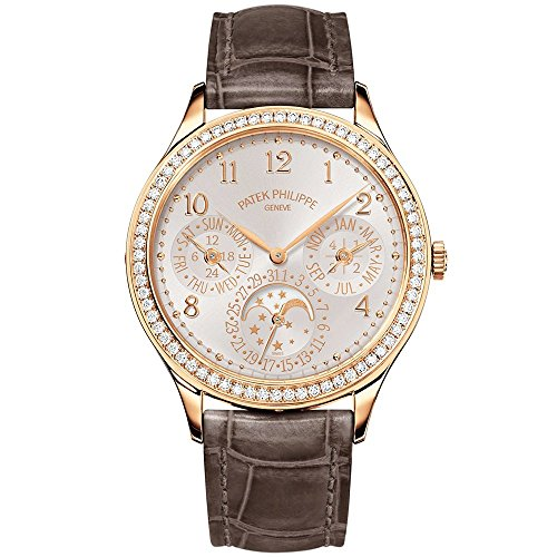 s Grand Complications 35mm Rose Gold Watch with Diamond Bezel 7140R-001 (Patek Philippe Rose Gold)