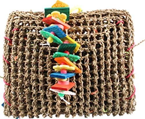 A&E CAGE COMPANY 001407 Happy Beaks Vine Mat Forage Pouch Bird Toy Multi, Medium
