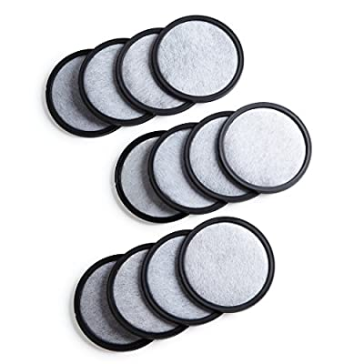 12-Pack Premium Activated Charcoal Water Filter Disk for All Mr. Coffee Models
