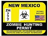 New Mexico Zombie Hunting Permit (Bumper Sticker)