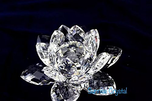 SunRise Multi-Faceted Cut- Crystal Clear Lotus Flower Crystal
