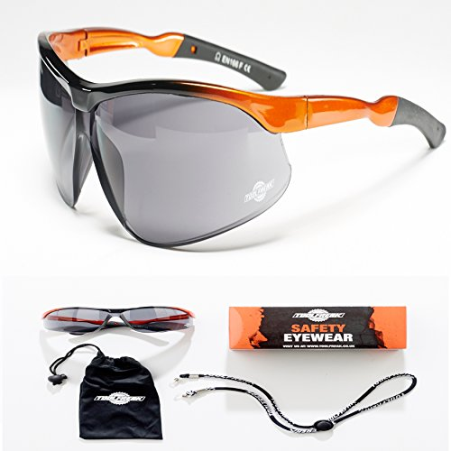 ToolFreak-Agent Safety Glasses & Dark Tinted Sunglasses with Maximum UV Protection   Stylish Eye Protection Treated to Reduce Fog and Scratch   Perfect for Men & Women in Work or Sport ++ Accessories by ToolFreak